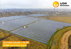 UDP Renewables launched 13 MW PV PP in Zaporizhia region
