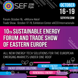 SEF 2018 Kyiv will present trends that change the world and identify the best 2018 projects in the sustainable energy field