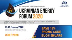 Знижка для участі в 11-му міжнародному Українському Енергетичному Форумі